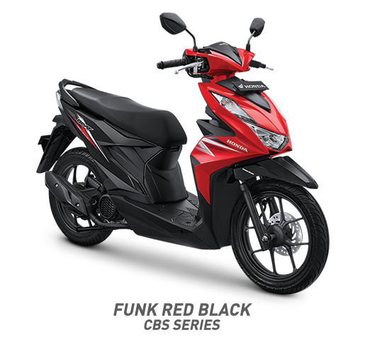 all new beat 2020 funk red black honda cun motor