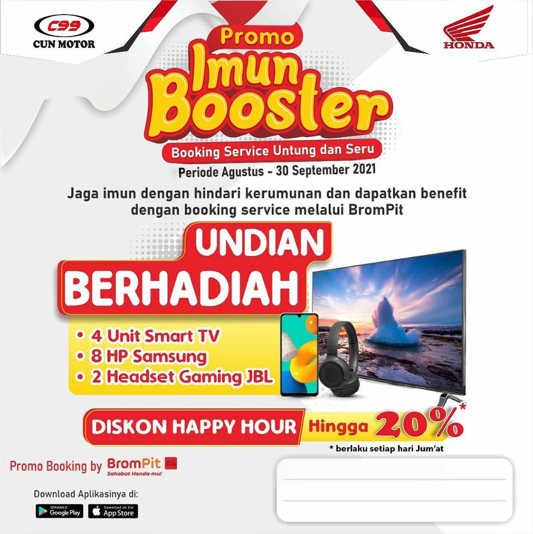 Promo Imun Booster Ahass CUN Motor